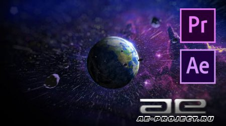 Space Logo Reveal - Project for After Effects & Premiere Pro (Videohive)
