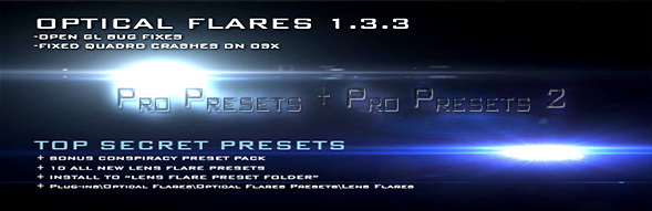 Optical Flares Bundle Pro Presets 1 + Pro Presets 2